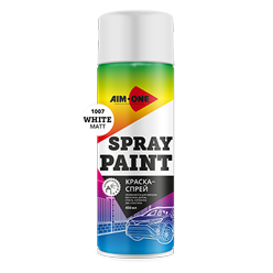 Spray paint white matt