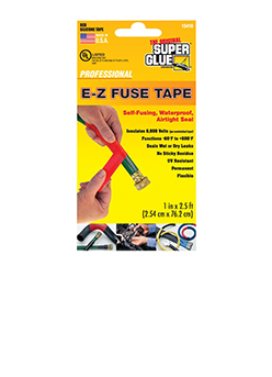 E-Z Fuse Tape,Red 2.5ft, Super Glue