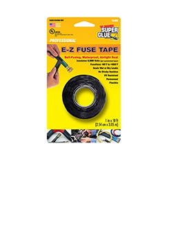 E-Z Fuse Tape, Black 10ft,  Super Glue