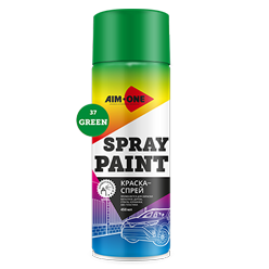 Spray paint green