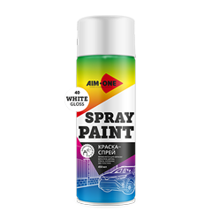 Spray paint white gloss