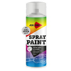 Spray paint lacquer matt
