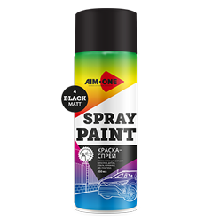 Spray paint black matt